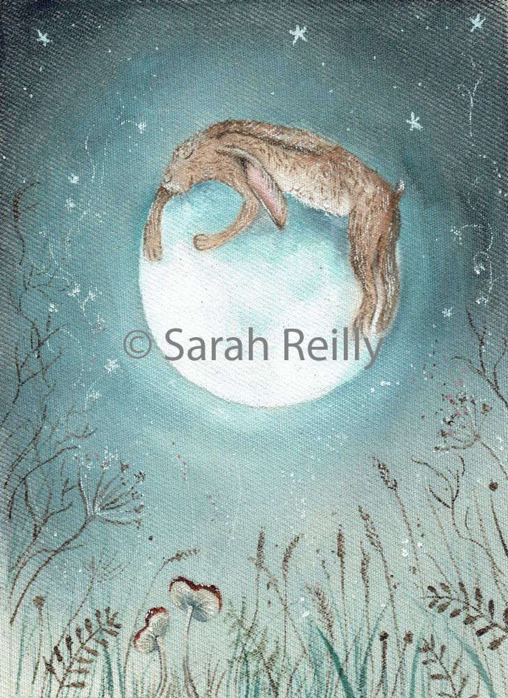 Hugging the Moon by Sarah Reilly, Suffolk Artist, Love Country UK