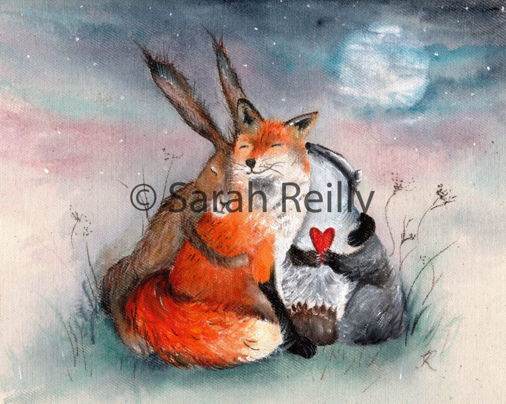 Peace Huggles by Sarah Reilly, Suffolk Artist, Love Country UK