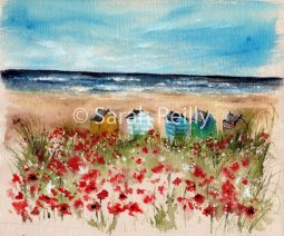 Seaside Poppies by Sarah Reilly, Suffolk Artist, Love Country UK
