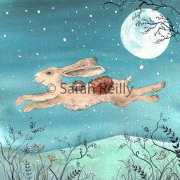 Flight of the Moon Hare by Sarah Reilly Suffolk Artist Love Country UK