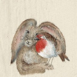 The Hare and the Robin by Sarah Reilly Suffolk Artist Love Country UK