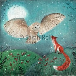 The Owl and the Fox by Sarah Reilly Suffolk Artist Love Country UK