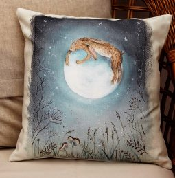 Hugging the Moon Cushion by Sarah Reilly Love Country UK