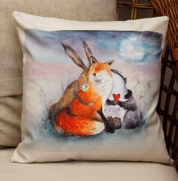 Peace & Huggles Cushion by Sarah Reilly Love Country UK
