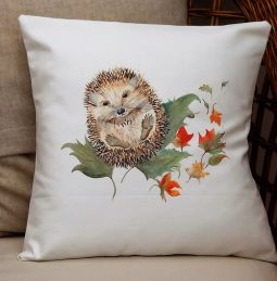 Prickly Mr Hedghog Cushion by Sarah Reilly Love Country UK