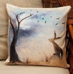 Stargazing Cushion by Sarah Reilly Love Country UK