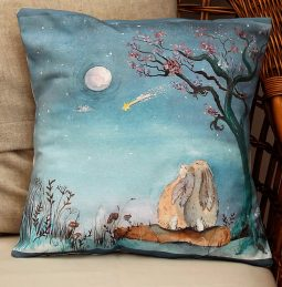 Stars and Dreams Cushion by Sarah Reilly Love Country UK