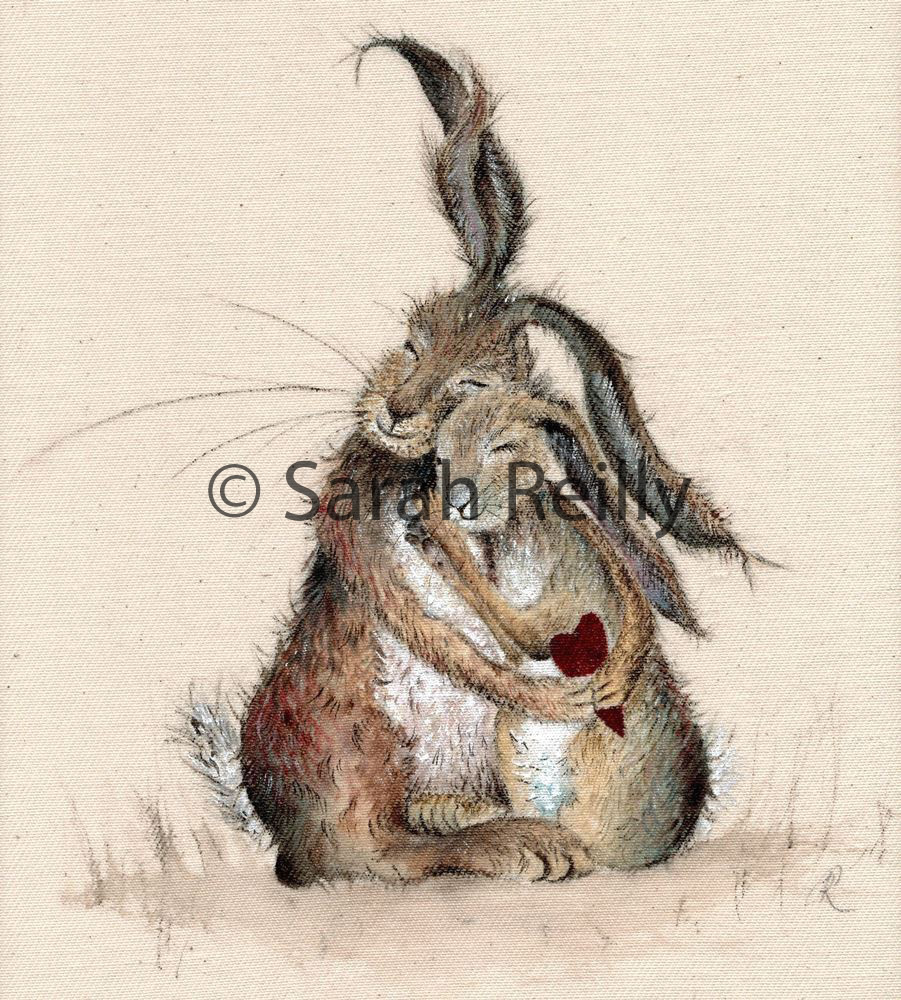 Hares my Heart by Sarah Reilly, Suffolk Artist, Love Country UK