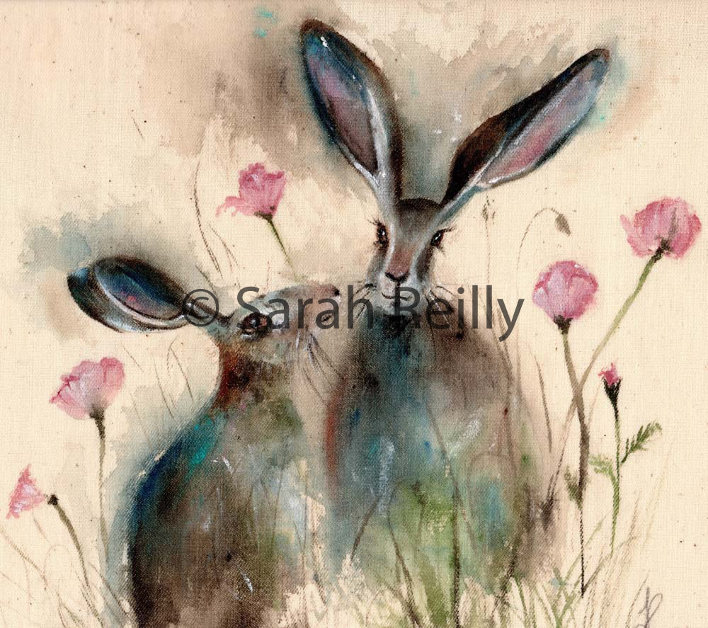Pink Poppy Love by Sarah Reilly, Suffolk Artist, Love Country UK